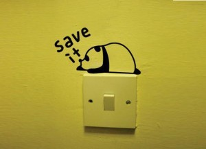 Save-it-lazy-bear-personalized-cartoon-switch-stickers-wall-stickers-wall-covering-wall-decoration